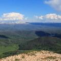 Vistas open up to wide, flat views.- Hahn's Peak Lookout