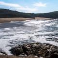 The beach is narrow but spectacular.- Arroyo de los Frijoles Beach