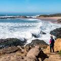 The north side of the beach.- Arroyo de los Frijoles Beach