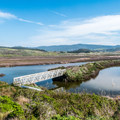 Bridge across Pescadero Creek.- Pescadero Marsh Natural Preserve