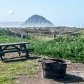 Morro Rock is ever present.- Morro Strand Campground