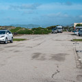 Many sites have parking alongside the overnight space.- Morro Strand Campground