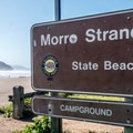 Entrance to Morro Strand Beach and Campground.- Morro Strand Campground