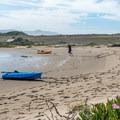Landing on the sand spit.- Morro Bay Harbor