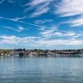 The wharves along Morro Bay harbor.- Morro Bay Harbor