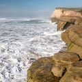 Churning waves.- Pomponio State Beach