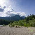 View west from North Beach.- North Beach, Alouette Lake