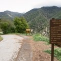 The entry to Sturtevant Falls Trail is a gated forest road.- Sturtevant Falls from Chantry Flat