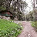 One of many cabins along the trail.- Sturtevant Falls from Chantry Flat