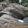 Natural rock water slide.- Sturtevant Falls from Chantry Flat
