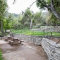 Typical picnic site with a grill.- Chantry Flat Recreation Area