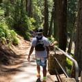 Walking down to the falls.- McArthur-Burney Falls Memorial State Park