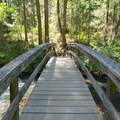 The Rainbow Footbridge is part of the Falls Loop Trail.- McArthur-Burney Falls Memorial State Park