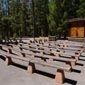 The park amphitheater.- McArthur-Burney Falls Memorial State Park