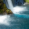 Colors of the waters during summer.- McArthur-Burney Falls Memorial State Park