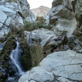 Waterfalls line portions of the lower canyon.- Panamint City