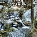 Though scenic, sometimes hikers are forced to climb falls and walk through the stream.- Panamint City