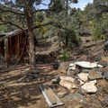 Some cabins have been well preserved with water piped in from nearby springs.- Panamint City