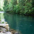 Large deep pool for jumping and swimming on the Molalla River.- Day Use Site 2: Molalla River Swimming