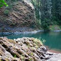 Walk-in entry to swimming on the Molalla River.- Day Use Site 11: Molalla River Swimming