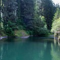 Deep emerald pool for lazy floating along the Molalla River.- Day Use Site 11: Molalla River Swimming