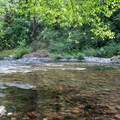 Shallow riffles for wading along the Molalla River.- Day Use Site 11: Molalla River Swimming