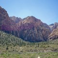 View of Ice Box Canyon from the trailhead.- Ice Box Canyon