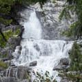 Canyon Creek Falls roaring after a rain.- Canyon Creek Lakes