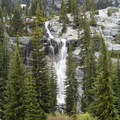 One of the many falls behind the upper lake.- Canyon Creek Lakes