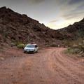 Parking for Goldstrike Hot Springs.- Goldstrike Hot Springs
