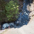 Looking down at Whetstone Creek.- Whetstone Gulf Rim Trail
