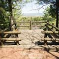 The wooden overlook.- Whetstone Gulf Rim Trail