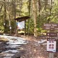 The trail register and map.- Camels Hump Via the Monroe Trail