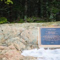 A plaque in the clearing below the summit recognizes Camels Hump as a national landmark.- Camels Hump Via the Monroe Trail
