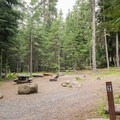 Typical site in Pebble Ford Campground.- Pebble Ford Campground