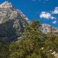 Lone Pine Peak from the Meysan Lake Trail. - Meysan Lake Trail