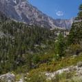 Expansive Sierra views along the Meysan Lake Trail.- Meysan Lake Trail
