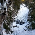 Crystal Cascade near the start of Tuckerman Ravine Trail.- Mount Washington: Lion Head Winter Route