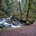 A quaint stone bridge over Multnomah Creek.- Franklin Ridge Loop Hike