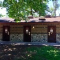 Restrooms and showers at John Neal Memorial Park Campground.- John Neal Memorial Park Campground