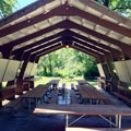 Reservable picnic shelter.- John Neal Memorial Park Campground