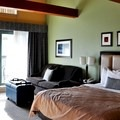 A spacious king studio room.- Crystal Lodge