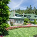 The Butchart's family house is now used as a restaurant.- The Butchart Gardens