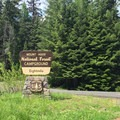 Entrance to Eightmile Campground.- Eightmile Campground