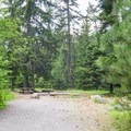 Typical campsite at Eightmile Campground.- Eightmile Campground