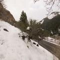 Mill B North Trail heads up toward Mount Raymond.- Hidden Falls Snowshoe