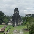 Temple I from the top of Temple II.- Tikal National Park