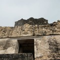 Masks over the entry of Temple II.- Tikal National Park