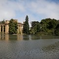The lagoon surrounding the Palace of Fine Arts.- Palace of Fine Arts