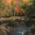 Ausable River and fall colors.- High Falls Gorge